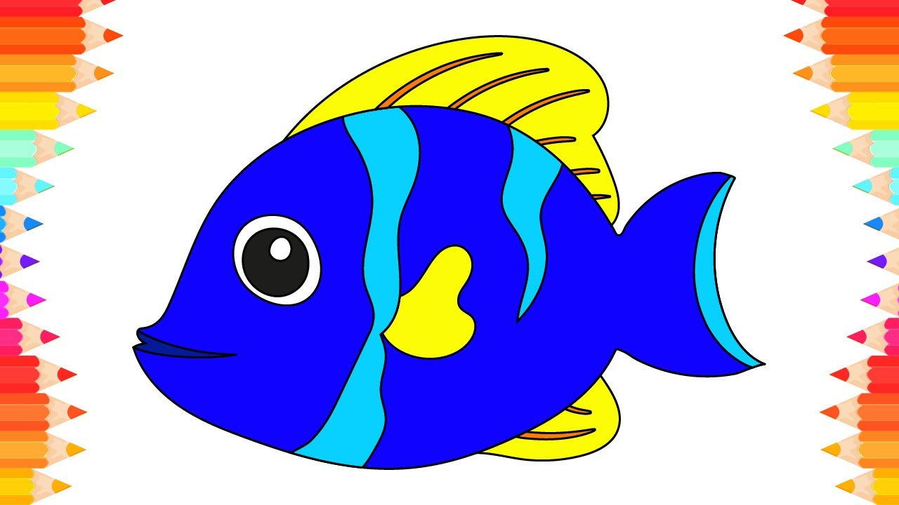 how to draw animals fish for kids coloring pages art for kids