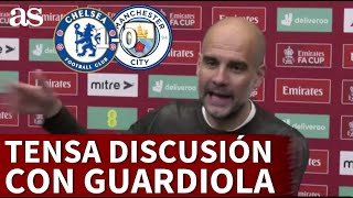La tensa discusión de Guardiola con un periodista tras la derrota del City en la FA Cup | Diario AS