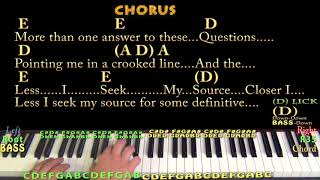 Closer to Fine (Indigo Girls) Piano Cover Lesson in A with Chords/Lyrics - Arpeggios
