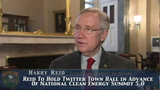 Reid to Hold Twitter Town Hall in Advance of National Clean Energy Summit 5.0