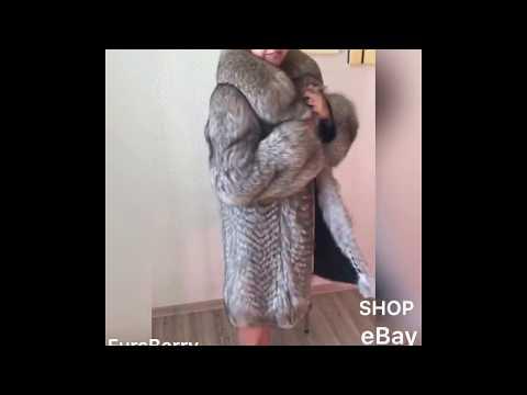 Fur coat silver fox. Fourrure luxury fur style. Shop furs. Fursberry.