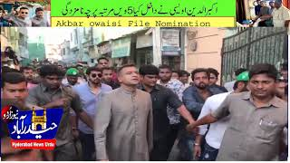 MIM's  Hold  Grand  Election Rally  For Akbar owaisi's  Nominations