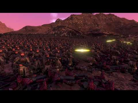 11,550 Infected Lizardmen & Goblin Archers VS. Every UNSC Marine Enlisted in 2552 |