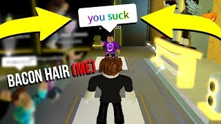 RAP BATTLING AS A BACON HAIR! (Roblox)
