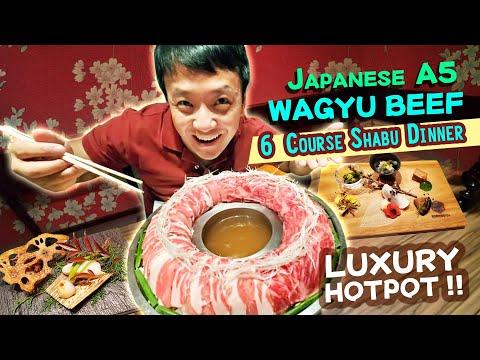 Japanese A5 WAGYU BEEF LUXURY HOTPOT 6 Course Shabu Dinner