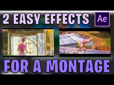 2 EASY Effects For Your FORTNITE MONTAGE! - After Effects