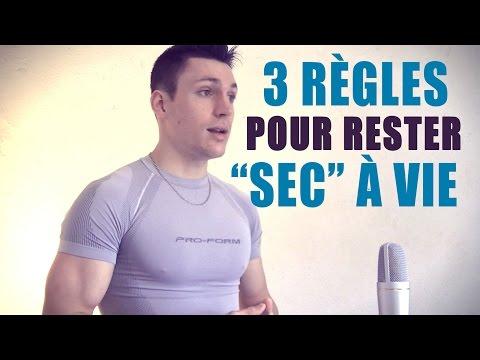 """Perdre Du GRAS et Rester """"SEC"""" à Vie  (3 Règles)"""