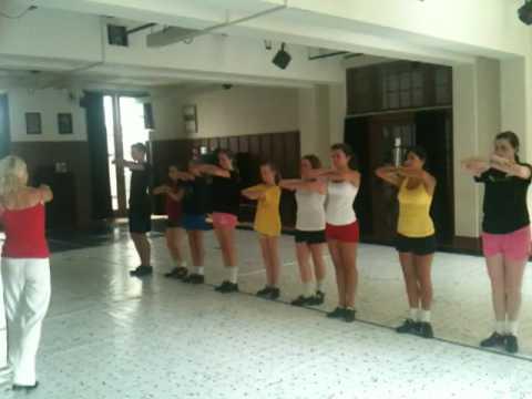 Bernadette Flynn teaches a step from Lord of the Dance ar CRC Irish Dance Camp.MOV