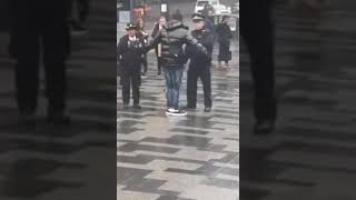 RACISM IS EVERYWHERE. A COP IN CROYDON, LONDON RANDOMLY STOPS A BLACK STUDENT TO SEARCH HIM