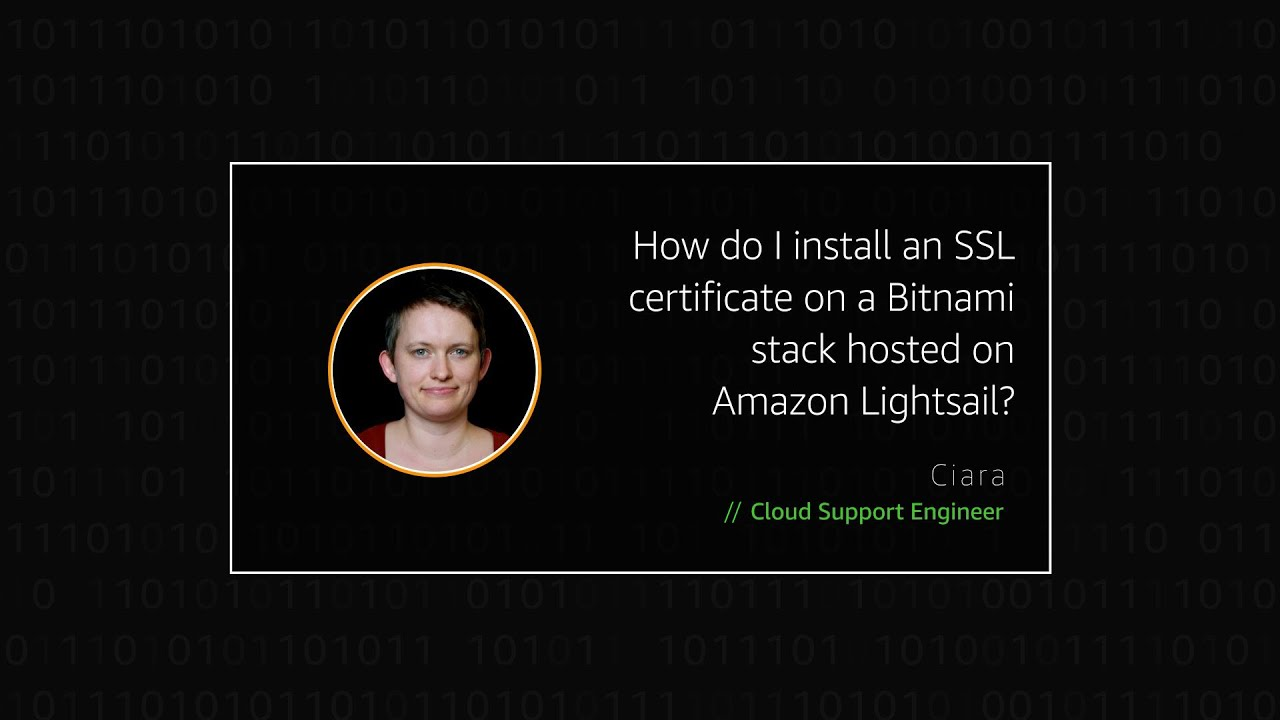 How do I install an SSL certificate on a Bitnami stack hosted on Amazon Lightsail?