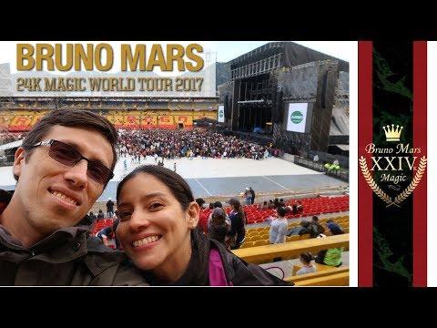 Bruno Mars 24K Magic World Tour - Colombia | Vlog 02 | Nuestro Primer Concierto
