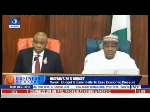 Nigeria's 2017 Budget: Saraki Says Budget Is Essentially To Ease Economic Pressure