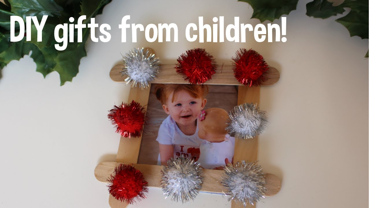 DIY Christmas gifts from your children! Toddler friendly - YouTube