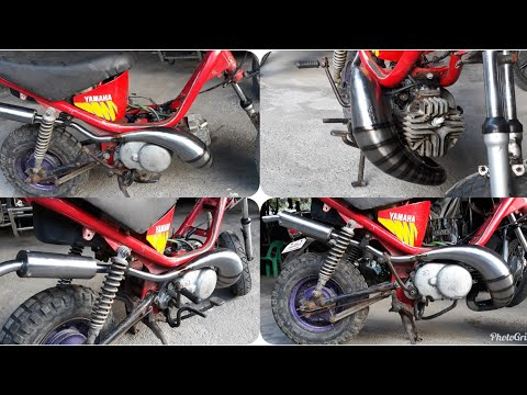 CUSTOM EXHAUST PIPE FOR YAMAHA CHAPPY / LOOK NICE AND QUALITY