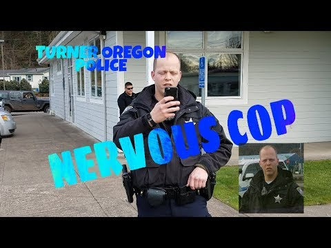 One (SPOOKED) Turner Oregon Police Officer 11/21/17