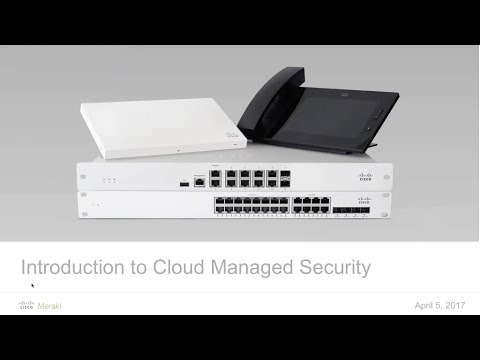 Webinar: Introduction to Cloud Managed Security Appliances