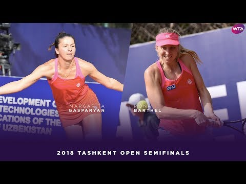 Margarita Gasparyan vs. Mona Barthel | 2018 Tashkent Open Semifinal | WTA Highlights ТАШКЕНТ ОПЕН