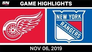 NHL Highlights   Red Wings vs. Rangers – Nov. 6, 2019