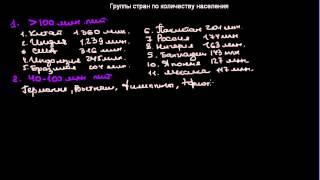 видео Классификация стран мира по уровню экономического развития, по населению, географическая классификация стран