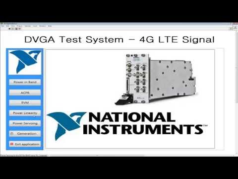 RF Power Amplifier Automated Test System Using National Instruments PXI, VST And LabVIEW