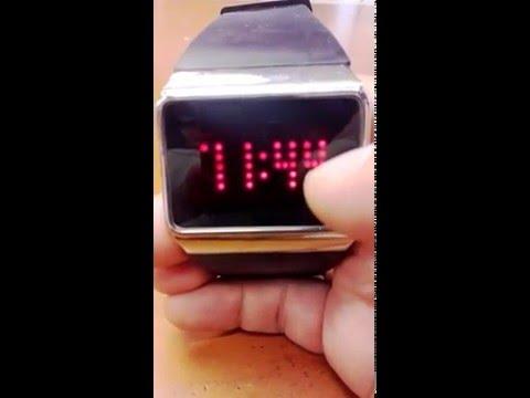 Como cambiar la hora a un reloj touch LED