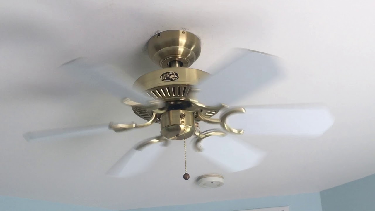 Hampton bay 32 minuet ii ceiling fan without light kit youtube hampton bay 32 minuet ii ceiling fan without light kit aloadofball Gallery