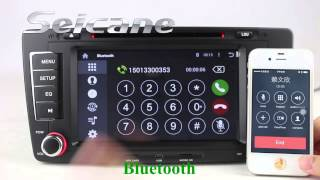 Cheap Skoda Octavia bluetooth radio system support HD 1080P USB SD 3G net Mirror Link