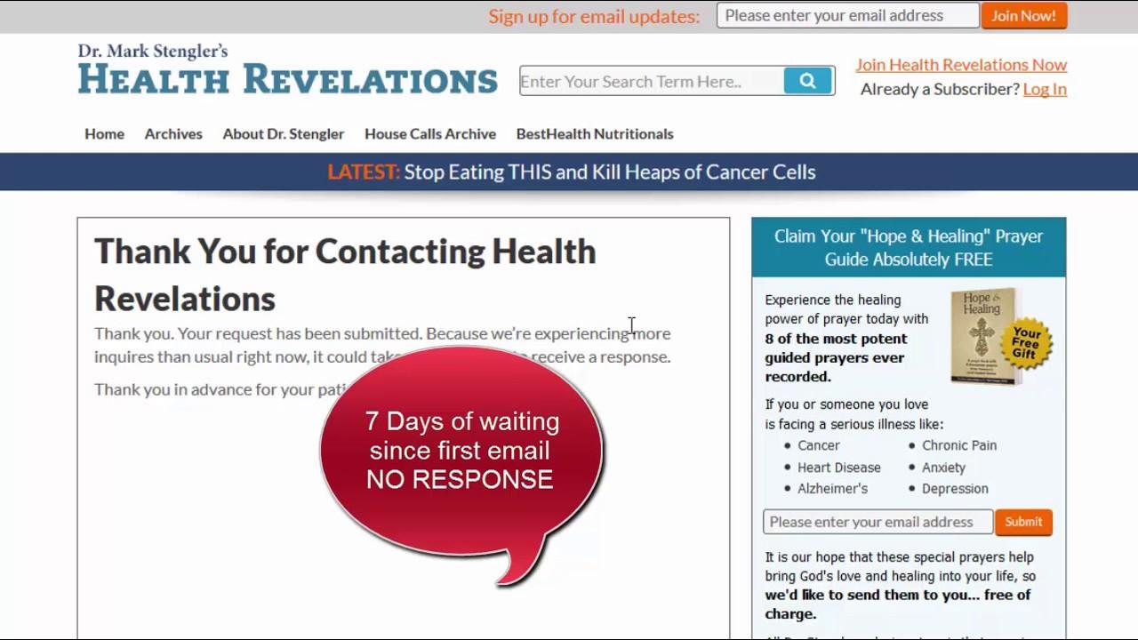 Health Revelations Mark Stengler Ripoff