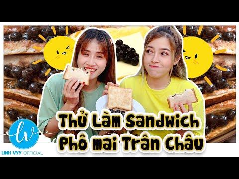 Làm Sandwich Phô Mai Sốt Trân Châu Đường Đen I Linh Vyy Official