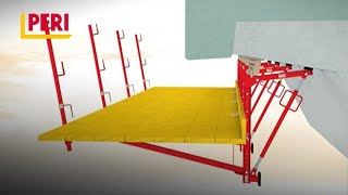 PERI VARIOKIT Cantilevered Parapet Bracket VGK Animation (Civil Engineering System)