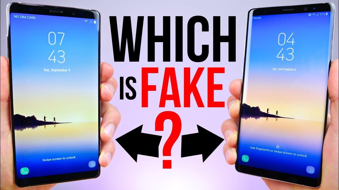 90 Fake Samsung Galaxy Note 8 vs  929 Note 8! - YouTube e96eb4783