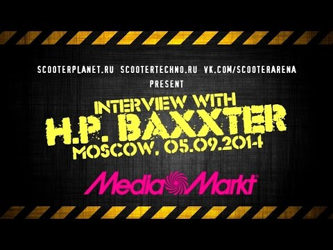 Exclusive interview with H.P.  Baxxter @ Media Markt (Moscow) [05.09.2014]