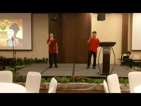Siloso Beach Resort staff night.  Chinese New Year song