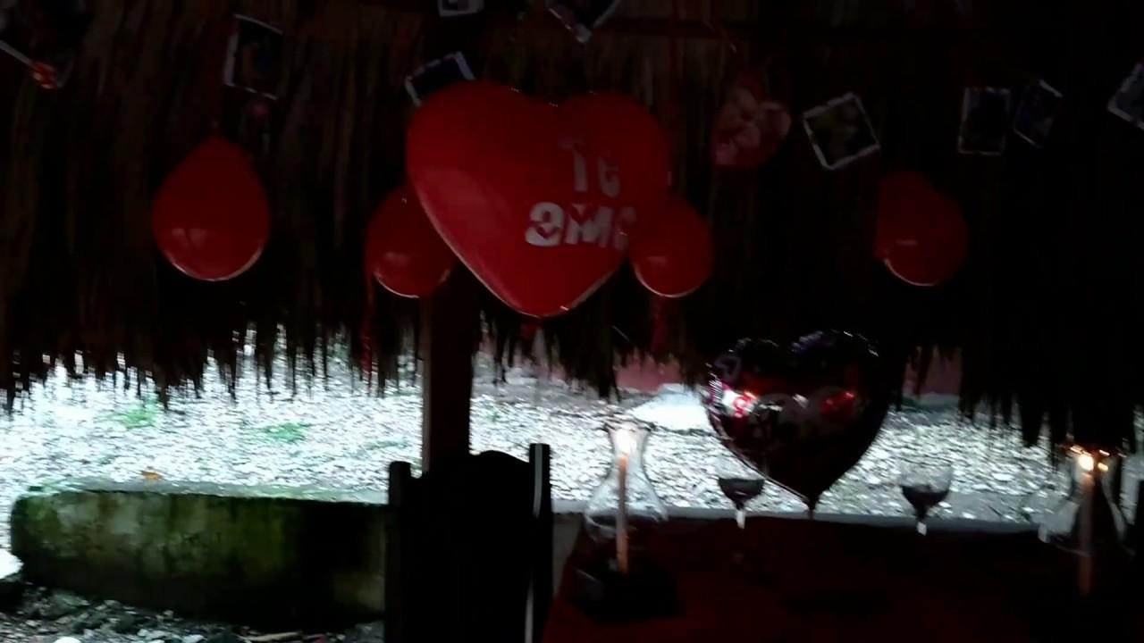 Idea decoraci n cena rom ntica con globos p talos fotos decorado con luces y velas youtube - Cena romantica con velas ...