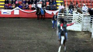 2011 Canadian Cowboys Association Novice Bareback Finals: Danten Bertsch