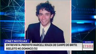 Reproduzir ENTREVISTA: Prefeito Marcell Souza de Campo do Brito, reeleito no domingo (15)