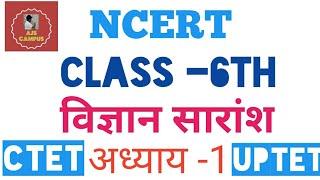 UPTET,CTET /NCERT /CLASS 6th Summary/ Lesson -1