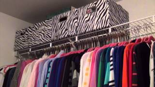 Master Bedroom Closet Organization On A Budget:  Before & After