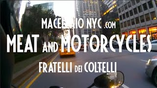 Meat and Motorcycles: Porchetta Recipe on a Moto Guzzi V7 NYC