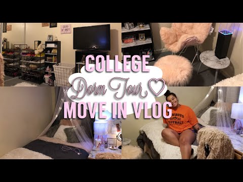 COLLEGE MOVE IN VLOG + DORM TOUR (APARTMENT STYLE) 2018 ||  xoGenia