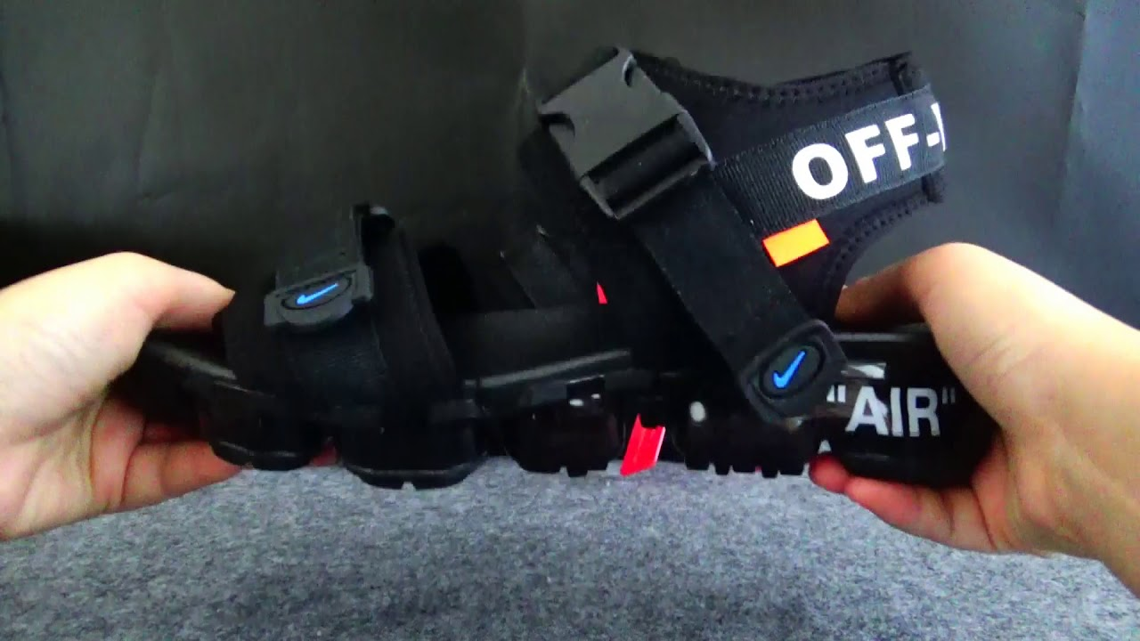 7967b95e6d32 Off White x Air Vapormax Sandals HD Reviews - YouTube