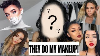 FACE-TIMING BEAUTY GURUS TO DO MY MAKEUP! James Charles, Olivia Jade, Summer Mckeen + more!