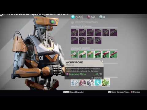 Destiny  HOW TO BUY WORMSPORE IN TOWER  finally