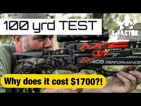 100 Yard Test! AXE 405 Crossbow Unboxing Review