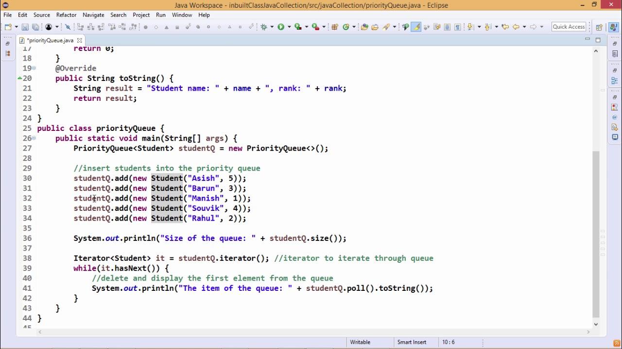 Java Essentials - Priority queue in java - YouTube