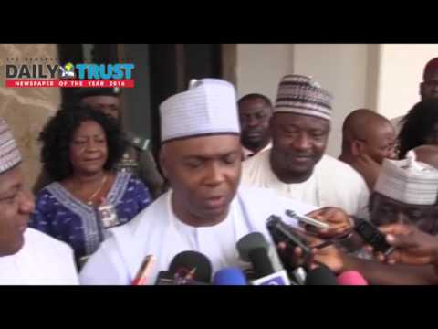 The 'closed-door' meeting with Buhari is a normal consultation - Saraki