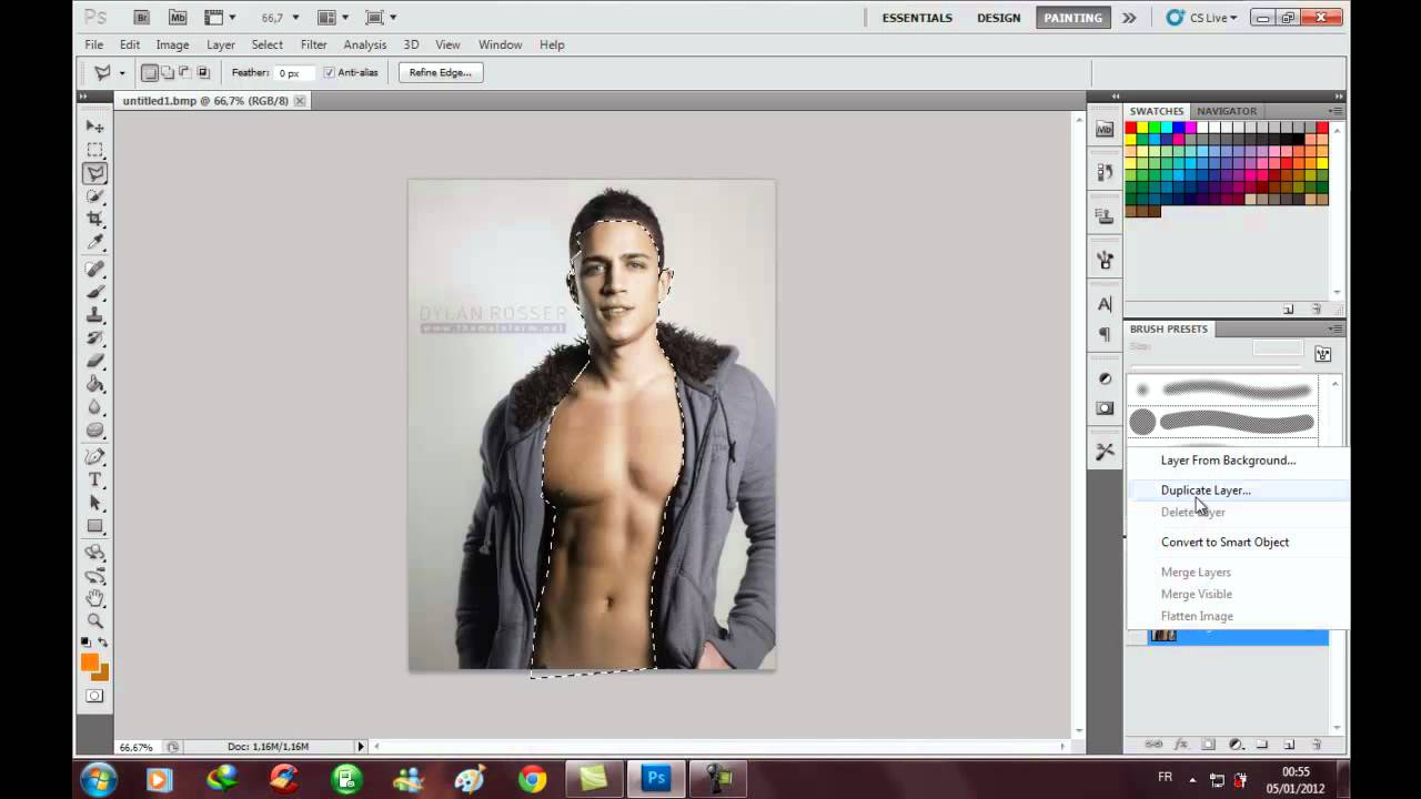 How To Change Skin Color ( Using Photoshop Cs5 )