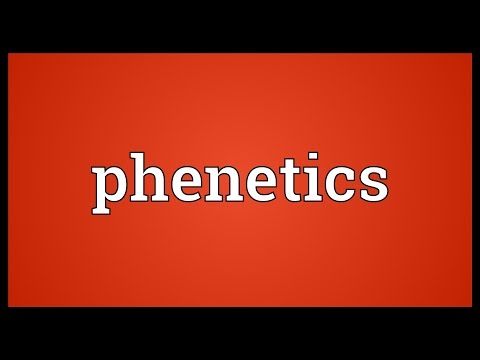 Phenetics Meaning