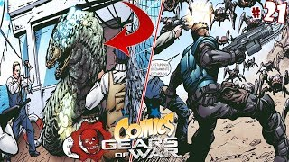 Un Nuevo Espécimen Lambent Y La Huida De Vectes/ Gears Of War/ Comic #21
