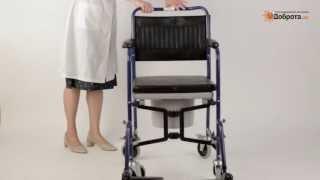 Видео-обзор кресла-туалета Доброта Transit Plus